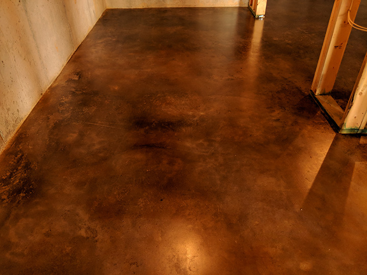 Stained Concrete Basement